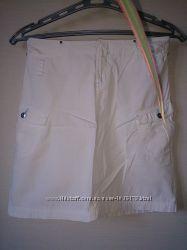 Стильная белая юбка-трапеция от Sela ПОТ 35 см