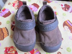 утеплённые мокасины Crocs размер 6