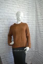 Вязаный свитер коричневый, H&M, M