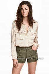 Твиловые шорты хаки H&M, L