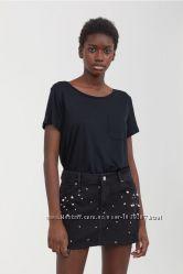 Трикотажная футболка, H&M, XS