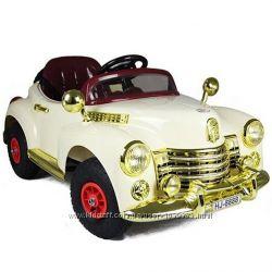 Детский электромобиль ретро M 1504 R-3 HJ 8888 ПЛИМУТ