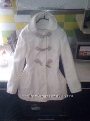 Пальто деми,  белоснежное, фирмы F&F