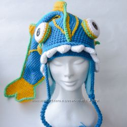 Оригинальная шапка Рыбка в наличии и под заказ, ручная работа