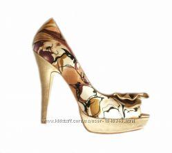 Атласные туфли с открытым носком Blossem 39 размер