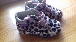 Леопардовые ботиночки с натуральным мехом