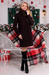 Пальто зимнее с хомутом 3 цвета