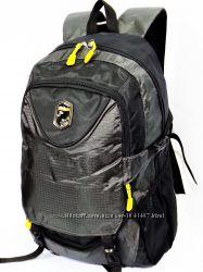 Стильный мужской городской рюкзак 3069 черно-серый