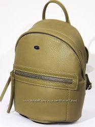 Стильный компактный женский рюкзак David Jones 3520 хаки