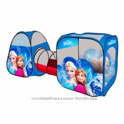 Палатка детская с тоннелем Frozen M 3312, 270 х 92 х 92 см.