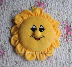 Мягкие игрушки подушка-солнышко, крошка Енот