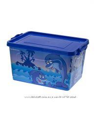 Ящик корзина для игрушек с рисунком