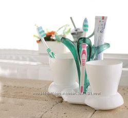 Держатель для зубных щеток, пасты  2 стакана