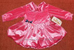 Дуже красиве Нове велюрове плаття для принцеси 9-12міс