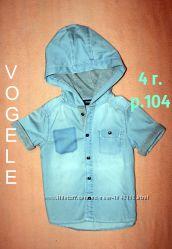 Рубашка джинсовая р. 104 и р. 122