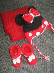 Шапки - зверушки для девочек Hand made