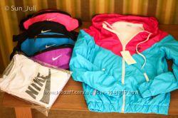 Женская куртка ветровка Nike на флисе жіноча куртка спортивна Киев
