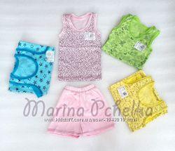 Пижамы разные для девочки весна-лето кулир, шорты и штаны. р 80-122