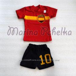 Летний комплект, костюм для мальчика шорты и футболка р 80-92 см см