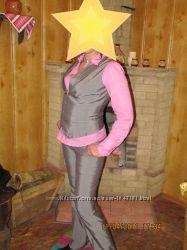 Брючный костюм OSTIN серого цвета с отливом