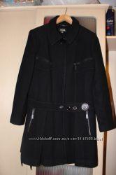 Пальто женское черное размер 44