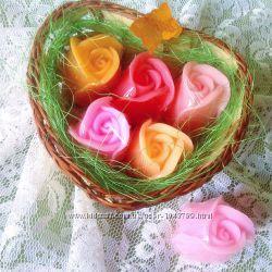 Набор -  мыло ручной работы    Букет  роз