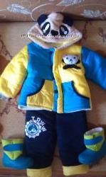 Прикольный  теплый костюмчик Панда