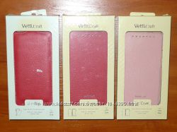 Чехол флип и чехол книжка Vetti для HTC One. Красный, розовый.