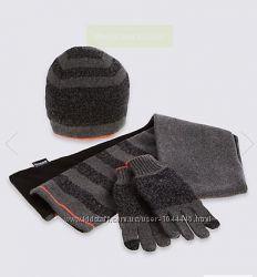 Набор шарф, шапка  и перчатки M&S