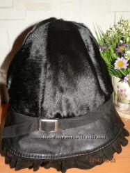Натуральная осенне-весенняя шляпа с мехом пони