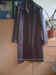 Продам пальто кожаное бу в очень хорошем состоянии Размер 46-48