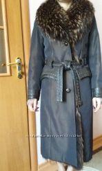 Продам зимнее пальто 46 размер, бу, хорошее состоянии, натуральный мех