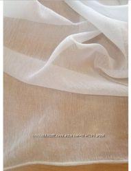 Тюль гардина - батист цвет белый