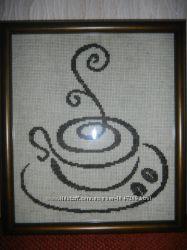 картины крестиком Кофейные нотки
