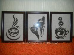 картины крестиком Крепкий кофе