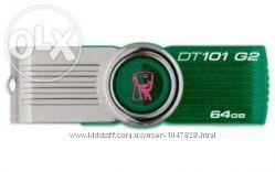 Продам USB 2. 0 64Gb Kingston Data Traveler 101 G2 green