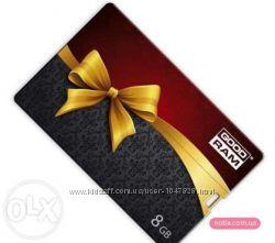 Продам флешку USB 2. 0 8Gb GoodRAM Credit Card Gift