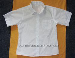 Белая рубашка без рукава и с рукавом Р. 116, 122, 128, 135, 146, 152, 165