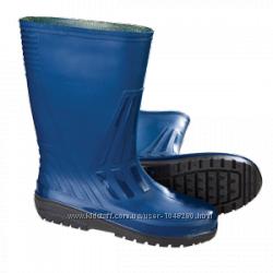 Сапоги ПВХ синие. Средняя высота-32 см