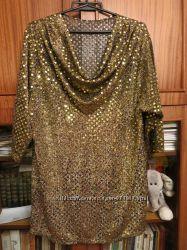 блуза в пайетки Франция 52 размер