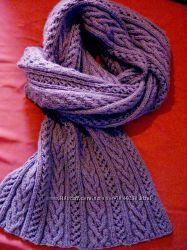 Крутой объемный вязаный шарф