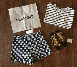 Новые шорты с узором в звезды Mango