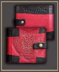 Портмоне кожаное, кошелек кожаный - 100 кожа снаружи и внутри
