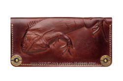 Кошелек кожаный, портмоне кожаное, натуральная кожа, ручная работа