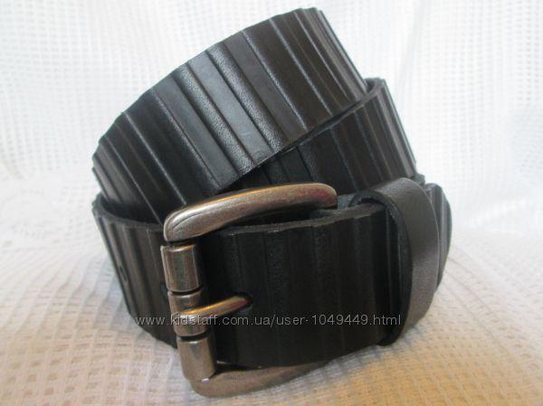 Качественный кожаный ремень из натуральной, цельной кожи, ручная работа