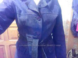 Натуральная замшевая куртка-тренч, торг