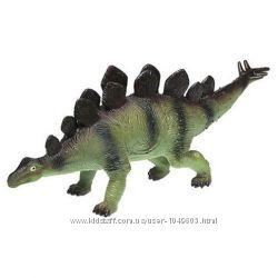 Большой резиновый динозавр стегозавр оригинал