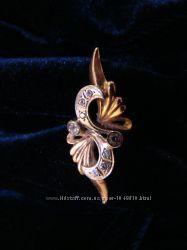 Шикарное кольцо 585 проба вес 4. 7 грамм.