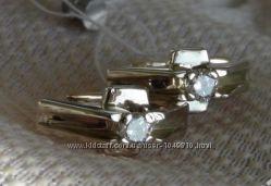Комплект серьги и кольцо с бриллиантами.