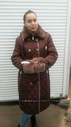 Зимний пуховик с капюшоном
